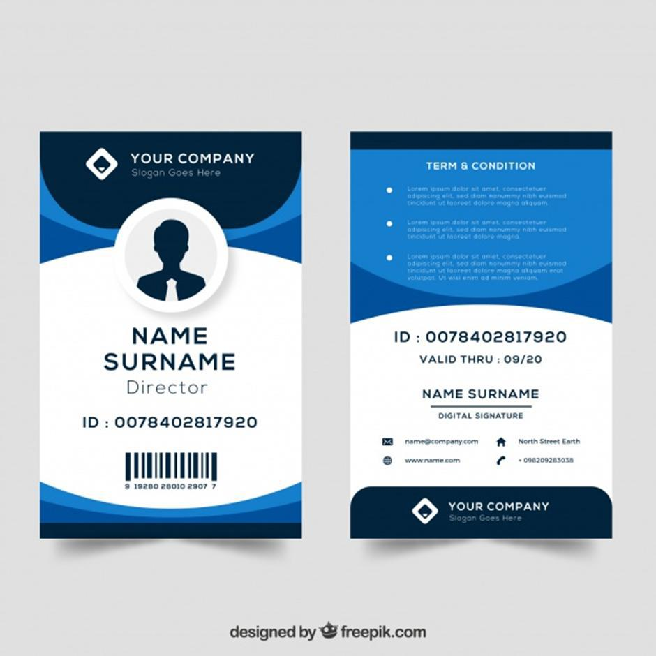 Contoh Id Card Barcode